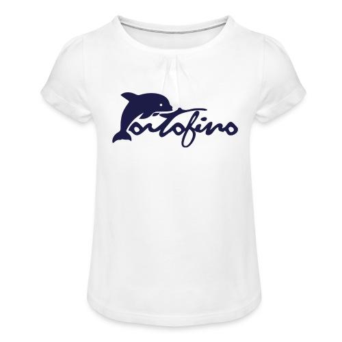 portofino 2019 NAVY - Girl's T-Shirt with Ruffles