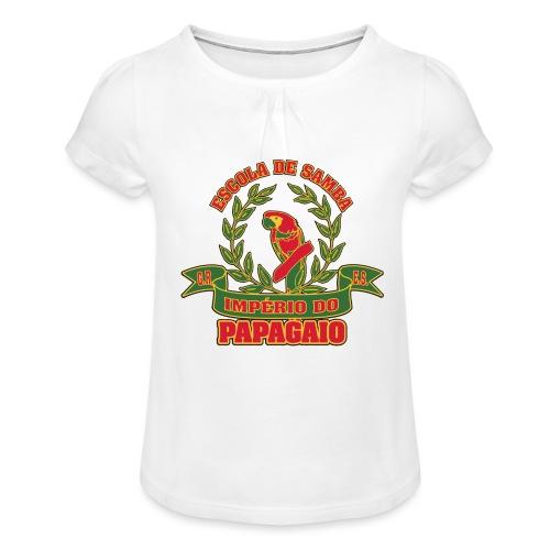 Papagaio logo - Tyttöjen t-paita, jossa rypytyksiä