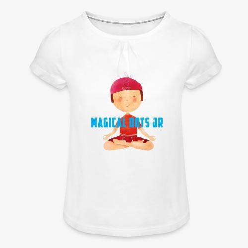 profilo traspartente mdj - Maglietta da ragazza con arricciatura