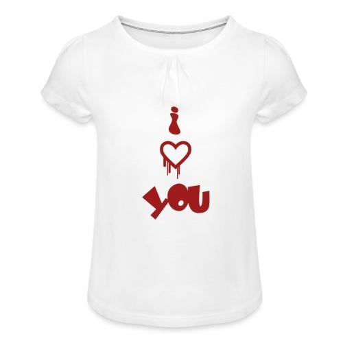 Peluche i love you - Girl's T-Shirt with Ruffles