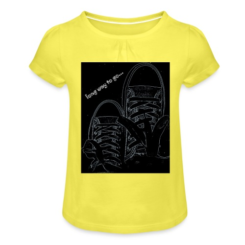 Long way to go - Girl's T-Shirt with Ruffles