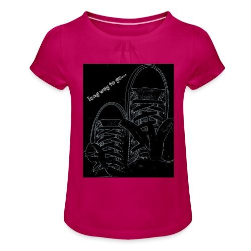 Long way to go - Girl's T-Shirt with Ruffles