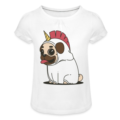 Chien Chien - T-shirt à fronces au col Fille