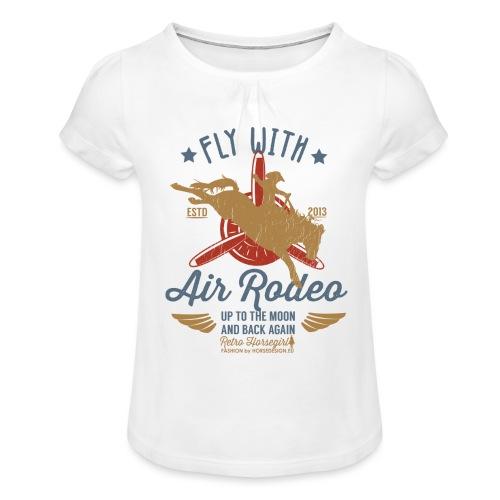 Flieg mit uns - Mädchen-T-Shirt mit Raffungen