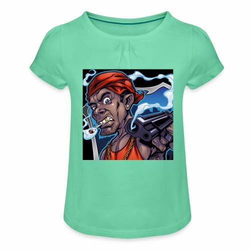 Crooks Graphic thumbnail image - T-shirt à fronces au col Fille