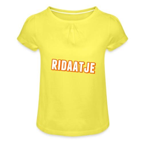 Ridaatje T-Shirt. - Meisjes-T-shirt met plooien