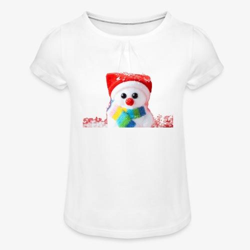 balwanek - Koszulka dziewczęca z marszczeniami
