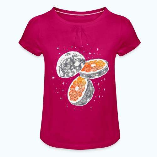 Moon orange - Girl's T-Shirt with Ruffles