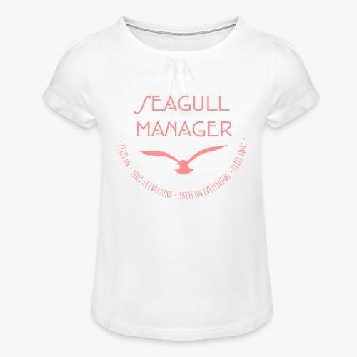 Seagull Manager - Mädchen-T-Shirt mit Raffungen