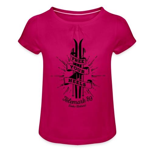 FreeYourHeels_merge - Tyttöjen t-paita, jossa rypytyksiä