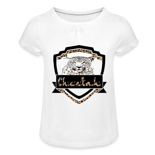 Cheetah Shield - Girl's T-Shirt with Ruffles