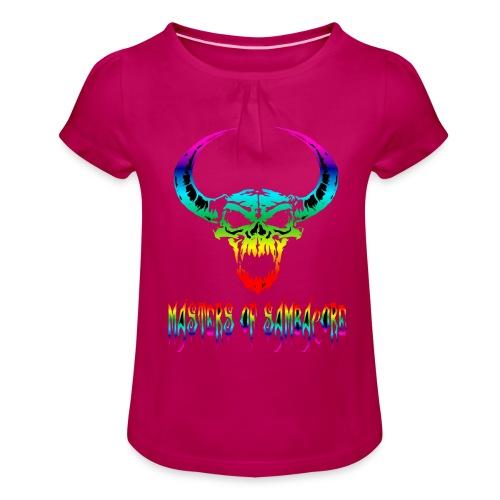 mos2 png - Meisjes-T-shirt met plooien