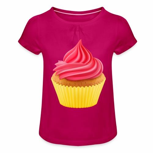 Cupcake - Mädchen-T-Shirt mit Raffungen