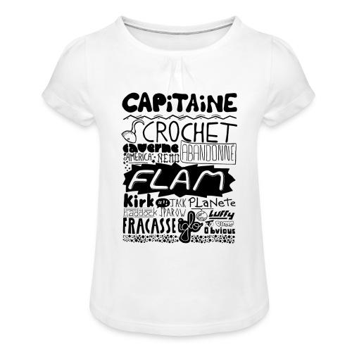 capitaine - T-shirt à fronces au col Fille
