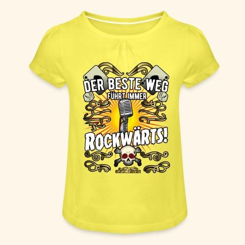 Rock Music Shirt ROCKWÄRTS - Mädchen-T-Shirt mit Raffungen