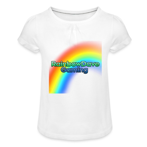RainbowDave Gaming Logo - Girl's T-Shirt with Ruffles