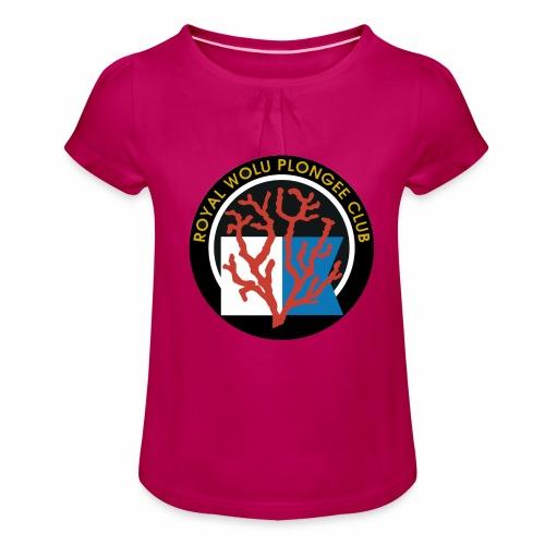 Royal Wolu Plongée Club - T-shirt à fronces au col Fille