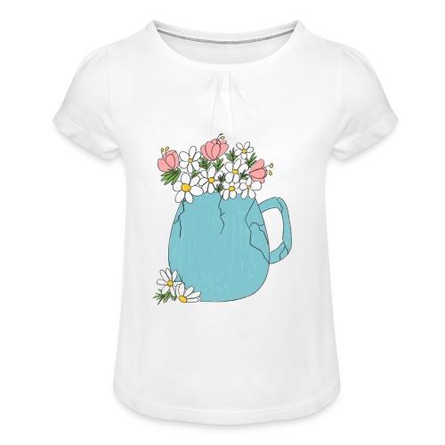 not broken - spring - Camiseta para niña con drapeado