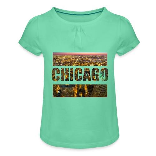 Chicago - Mädchen-T-Shirt mit Raffungen