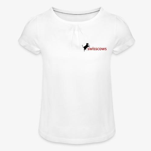 Swisscows - Mädchen-T-Shirt mit Raffungen
