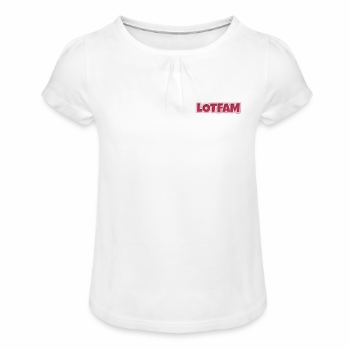 LotFam - Girl's T-Shirt with Ruffles