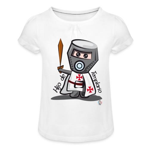 Hijo de templario (Casco) - Camiseta para niña con drapeado