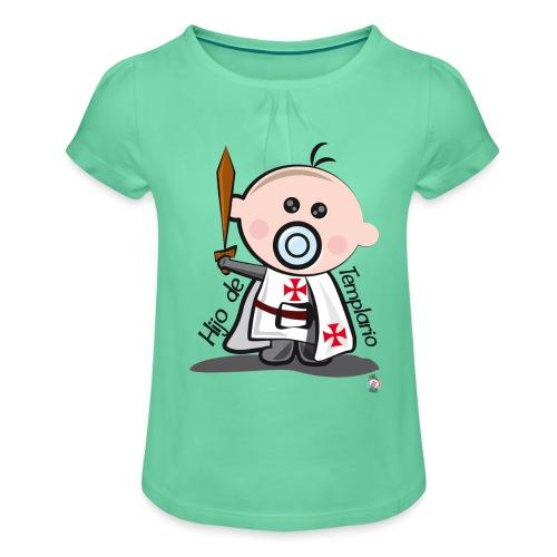 Hijo de templario - Camiseta para niña con drapeado