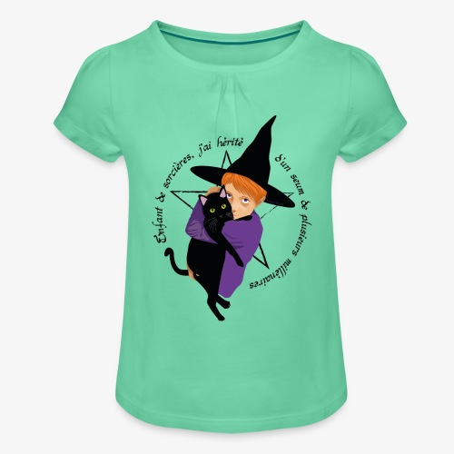 Enfant de sorcières - T-shirt à fronces au col Fille