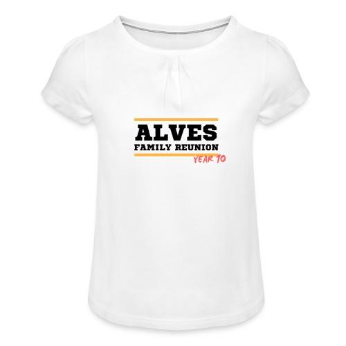 Alves - Maglietta da ragazza con arricciatura