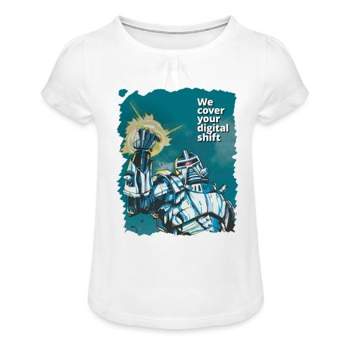 Robot Design - Kids - Girl's T-Shirt with Ruffles