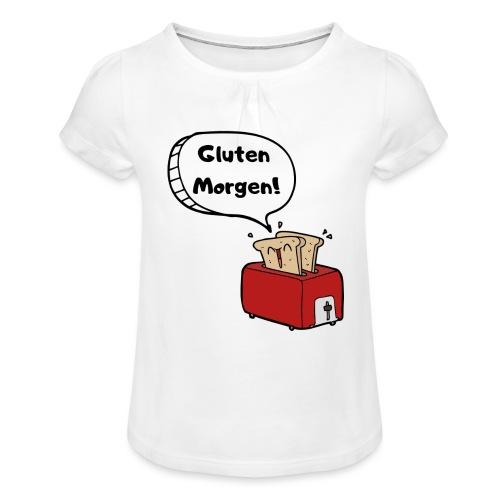 Gluten Morgen - Mädchen-T-Shirt mit Raffungen