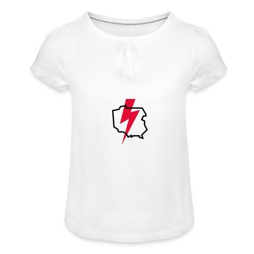 Poland thunder. Protest Ppolka - Koszulka dziewczęca z marszczeniami