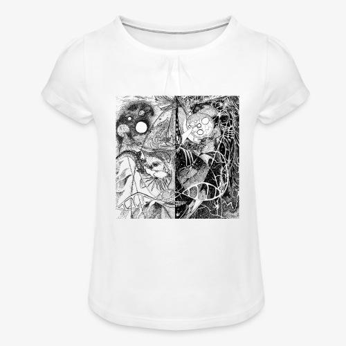 Universe in us all Square edition by Rivinoya - Tyttöjen t-paita, jossa rypytyksiä