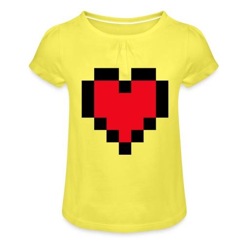 Pixel Heart - Meisjes-T-shirt met plooien