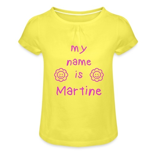 MARTINE MY NAME IS - T-shirt à fronces au col Fille