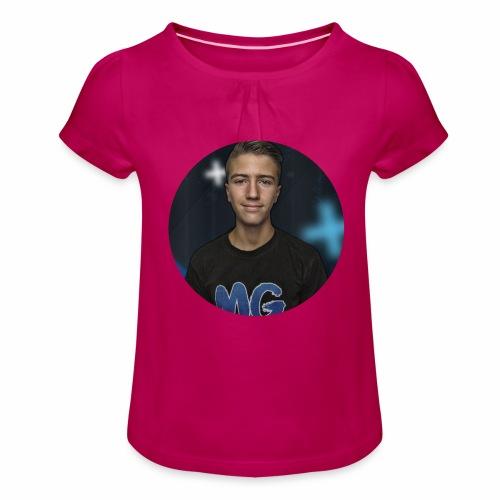 Design blala - Meisjes-T-shirt met plooien