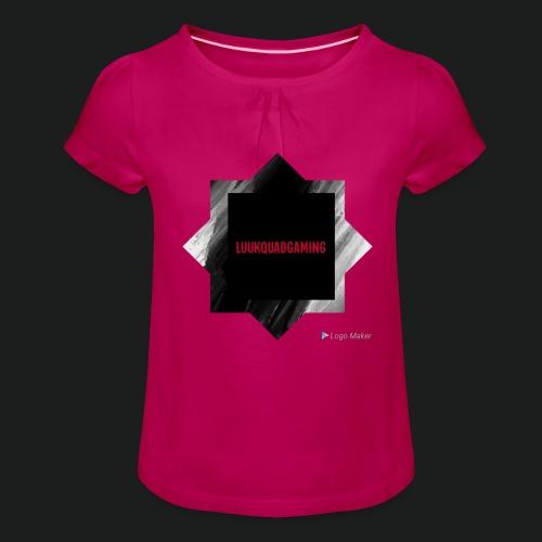 New logo t shirt - Meisjes-T-shirt met plooien