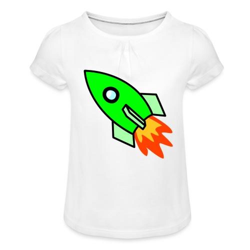 neon green - Girl's T-Shirt with Ruffles