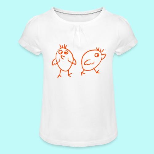 2 Dreckspatzen - Mädchen-T-Shirt mit Raffungen