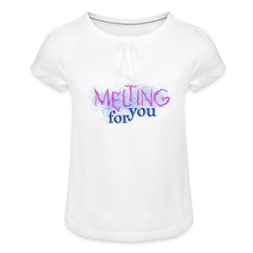 Melting for you - Pige T-shirt med flæser