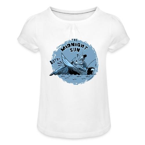 MIDNIGHT SUN, FUNNY FISHING TEXTILES, GIFTS - Tyttöjen t-paita, jossa rypytyksiä