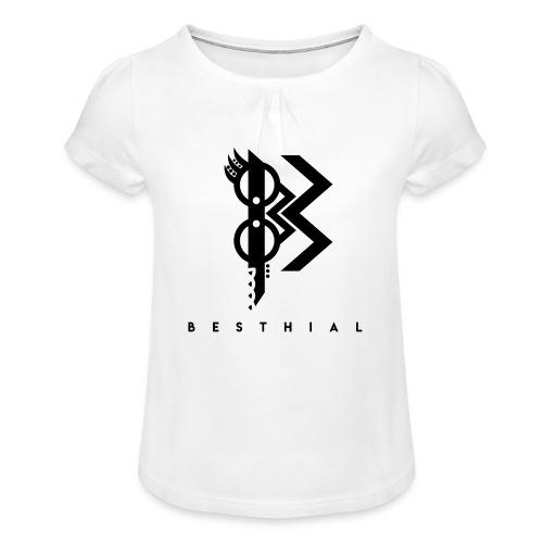 Viking Dark - T-shirt à fronces au col Fille