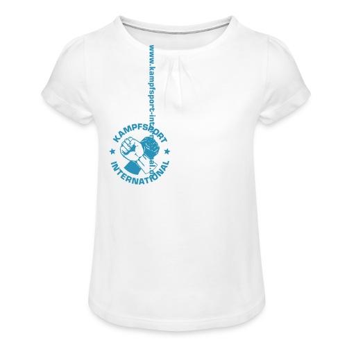 kiwebsite - Mädchen-T-Shirt mit Raffungen