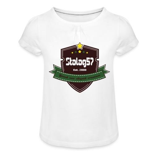 logo - T-shirt à fronces au col Fille