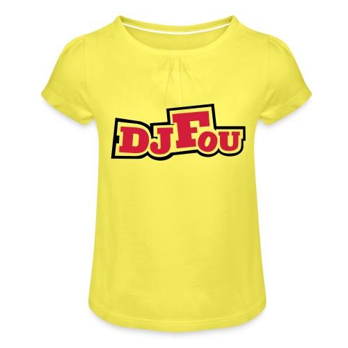 logofou - T-shirt à fronces au col Fille