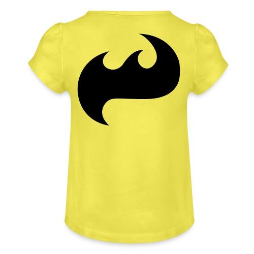 Highfish Logo - Mädchen-T-Shirt mit Raffungen