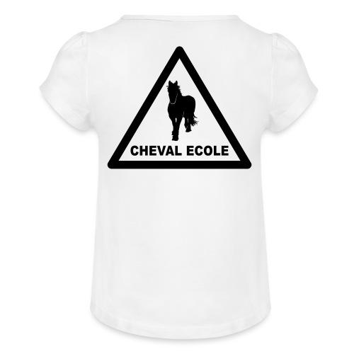 chevalecoletshirt - T-shirt à fronces au col Fille