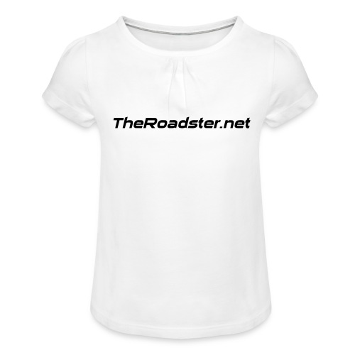 TheRoadster net Logo Text Only All Cols - Girl's T-Shirt with Ruffles