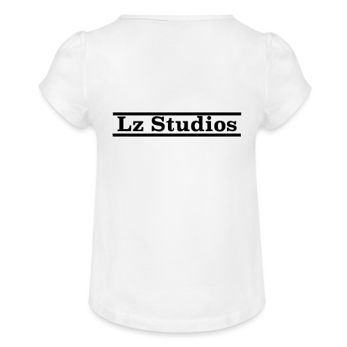 Lz Studios Design Nr.2 - Mädchen-T-Shirt mit Raffungen