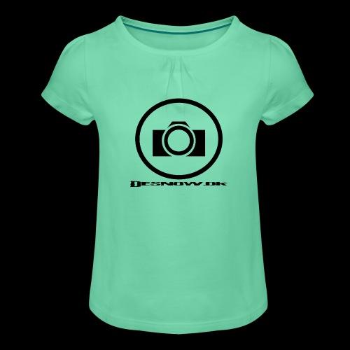 sort2 png - Pige T-shirt med flæser